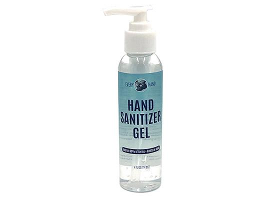 4 oz. gel hand hand sanitizer with pump cap - Every Hand