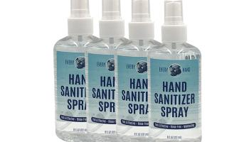 8 Oz Liquid Hand Sanitizer with Spray Cap - 4 Pack - Every Hand™